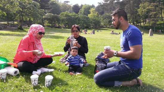 Great Orme: Picnic time - garden, Happy Valley, Base station