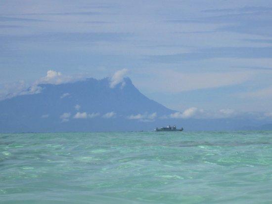Mantanani Island: View of main land from the island