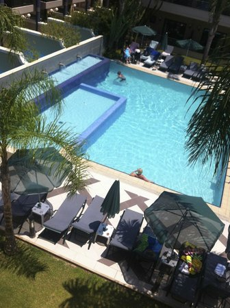 Porto Platanias Beach Resort & Spa: adults only pool view from room