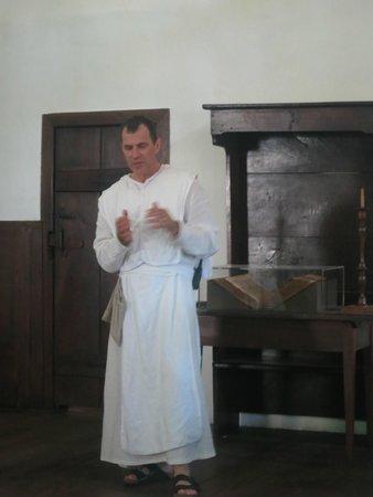 Tour guide at Ephrata Cloister