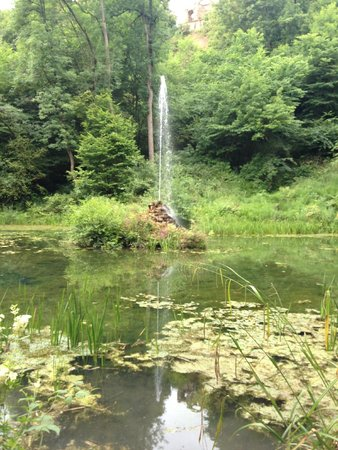 Hackfall Woods: The fountain pond