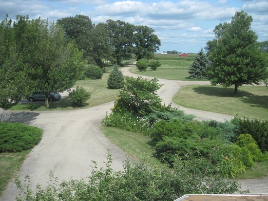 Brightwood Inn-View of Driveway from Front Bedroom