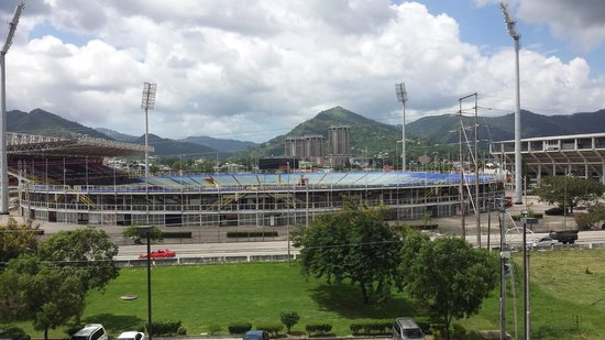 Courtyard Port of Spain: Stadium..You can watch the game from your room!