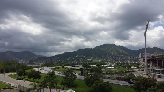 Courtyard Port of Spain: View of Mountain to West