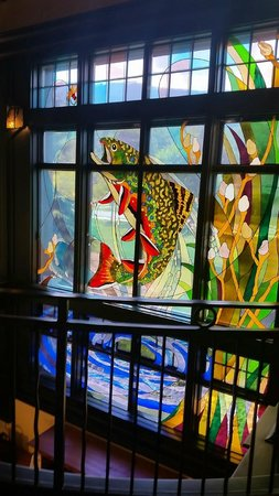 Orvis stained glass window