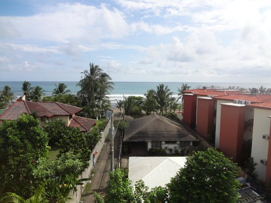 Room2Board Hostel and Surf School: view from the fourth floor