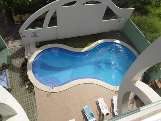 Room2Board Hostel and Surf School: Pool from 4th floor