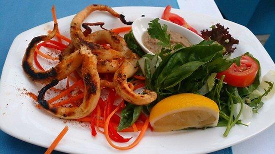 Turkuaz Restaurant Meyhane: Grilled calamari was delicious