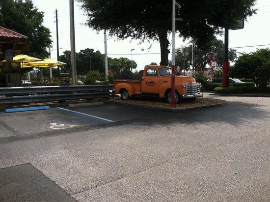 Cody's Original Roadhouse: Cody's parking lot
