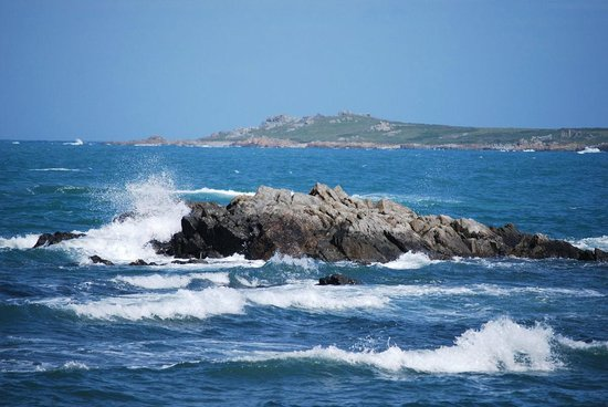 Fort Grey Shipwreck Museum: Waves crashing nearby....