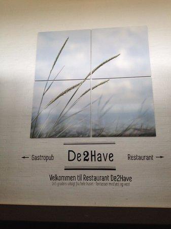 Restaurant De 2 Have: Inngang til Gastropub