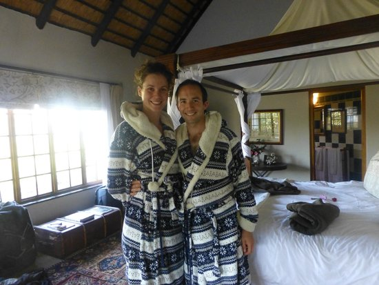 Indigo Fields Farm House and Spa: Us in our ponchos...