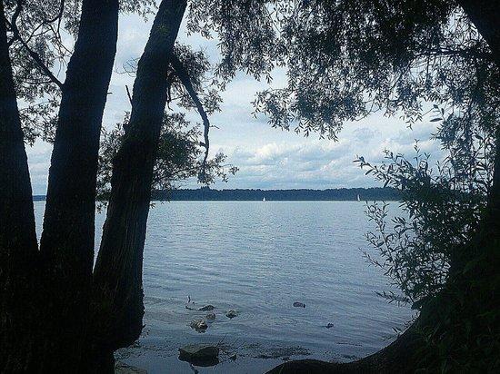 Lake Chiemsee: Chiemsee - Südufer - von der Autobahnraststätte aus gesehen