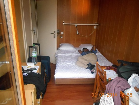 Hotel Central : This is the small double room - it is VERY small, about the size of an inside cabin on a cruise