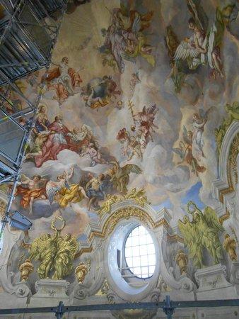 Karlskirche: Parte do afrescos da cúpula