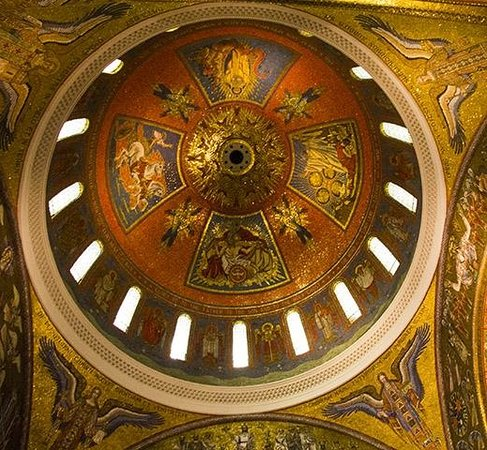 Cathedral Basilica of Saint Louis: One of the domes