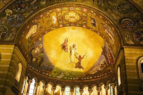 Cathedral Basilica of Saint Louis: side halv-dome