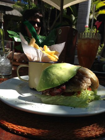 The Africa Cafe: Delicious Chicken Burger with Avocado