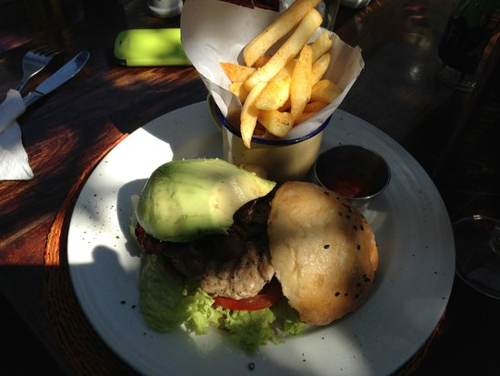 The Africa Cafe: Chicken and Avocado Burger