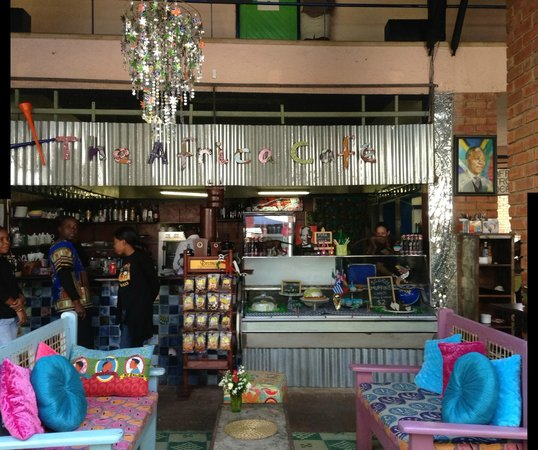 The Africa Cafe: Bright and cheerful built for comfort