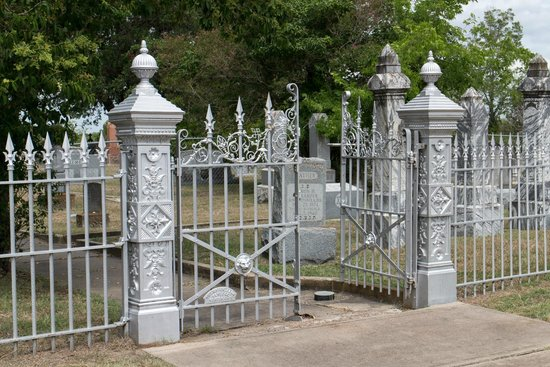 wrought iron fence gate. Evergreen Cemetery: Beautiful Old Wrought Iron Fence And Gates Gate