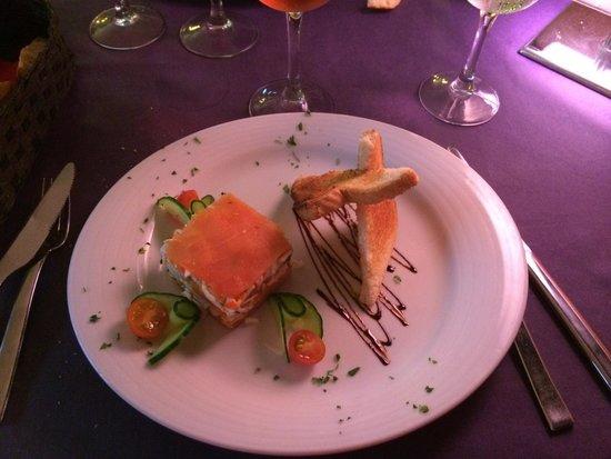 Parrots Restaurant Gran Canaria : Millefeuille crabe et saumon ;) excellent !