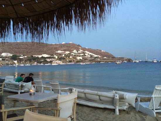 Aperanto Galazio: View from tables on the beach