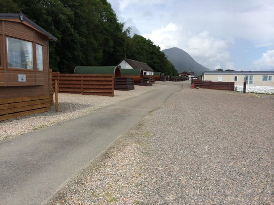 Loch Ness Highland Lodges : View at the caravan to the hobbits
