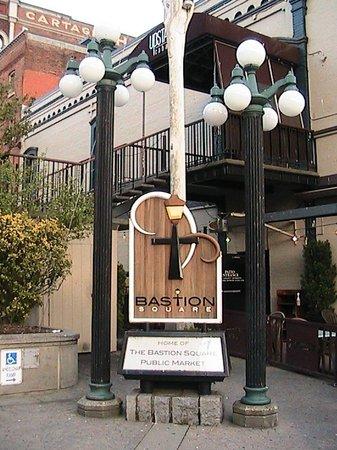 Bastion Square sign