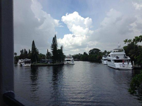 Bahia Mar Fort Lauderdale Beach - a Doubletree by Hilton Hotel: Vista da baía pela janela do hotel