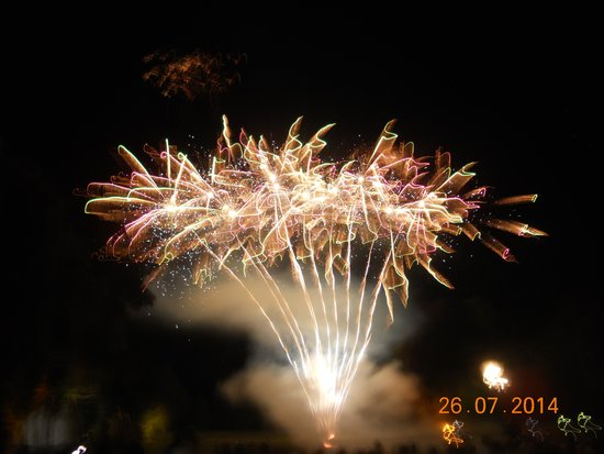 Oakley Hall Hotel: Firework finish to evening