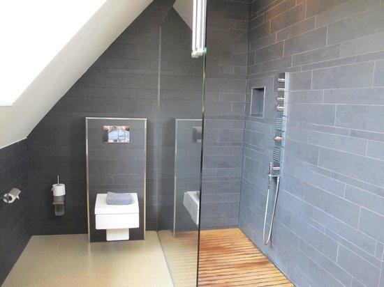 Wellness Hotel Caracol: Bathroom in room Koriander (Bruidsuite)