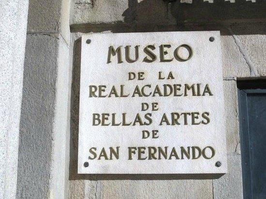 Museo de la Real Academia de Bellas Artes de San Fernando : 入口