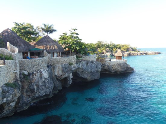"""Rockhouse Hotel: A view of a few of the rooms """"huts"""""""