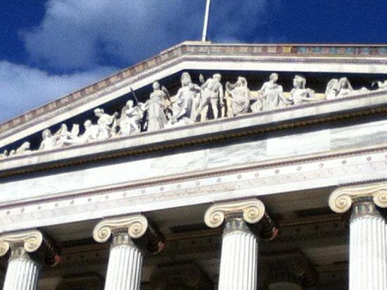 Amalia Hotel: Pediment of Athens Academy