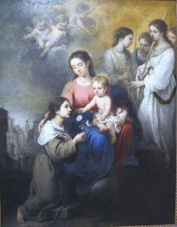 Musée Thyssen-Bornemisza : ムリーリョ,聖母子とパレルモの聖女ロザリナ