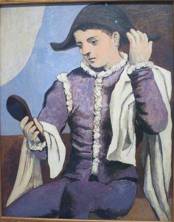 Musée Thyssen-Bornemisza : ピカソ,鏡を持つ道化師