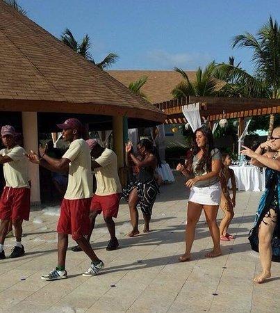 "Majestic Colonial Punta Cana: ""I love my job"" Zumba instructor Speedy- so much rhythm and talent!!!  Luv it!!!"