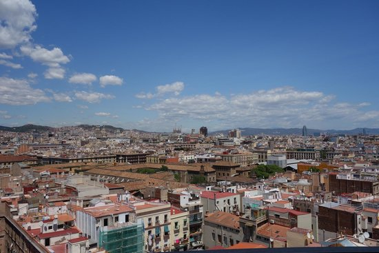Barcelo Raval: view from the terrace