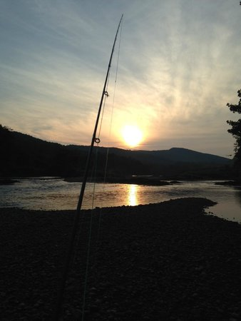 Wilderness Trails and the Vermont Fishing School: White River Sunset