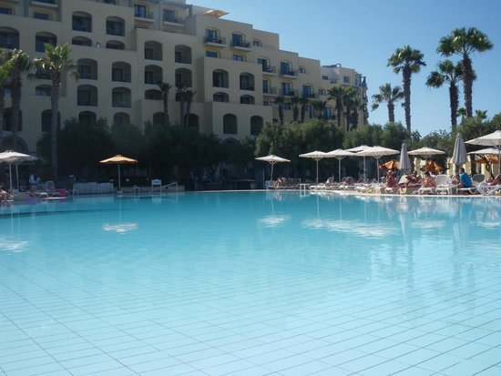 Hilton Malta: One on the pools where children can use inflatables