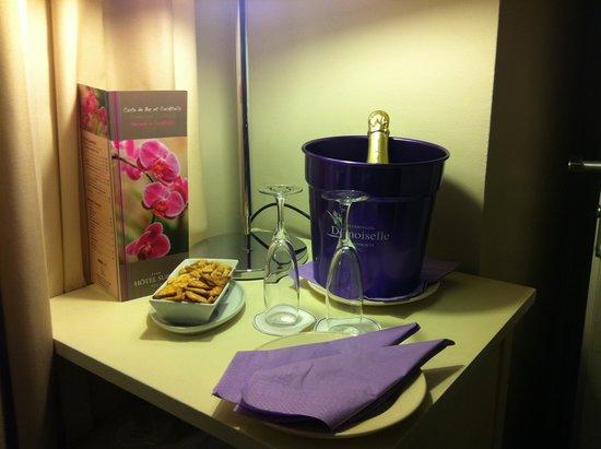 Hotel Suisse: champagne àl'arrivée