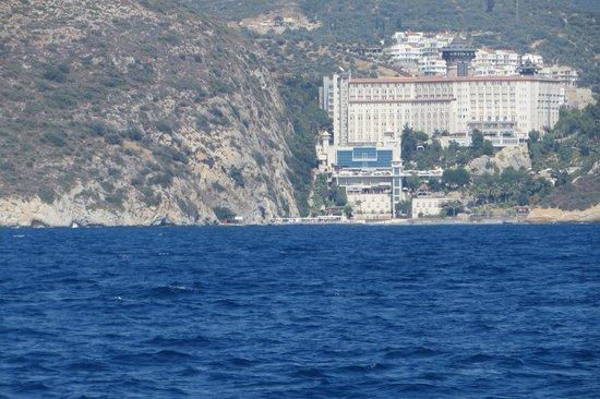 Alkoclar Adakule Hotel: hotel vanaf de boot