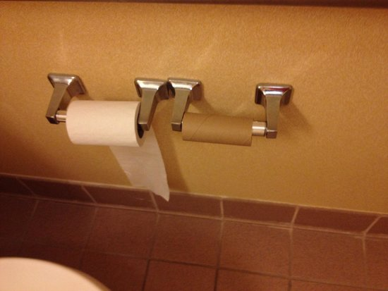 Quality Inn & Suites Hershey: Toilet tissue when we arrived
