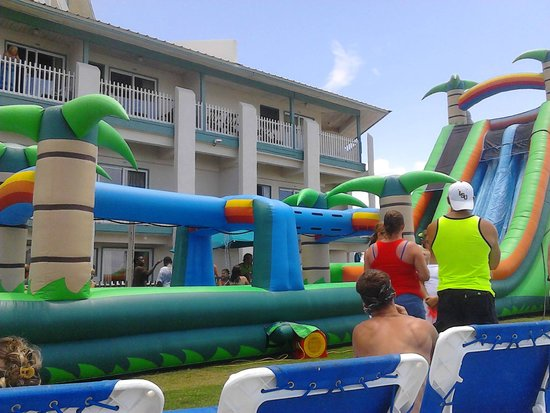 The Sandpiper Beacon Beach Resort Inflatable Water Slide