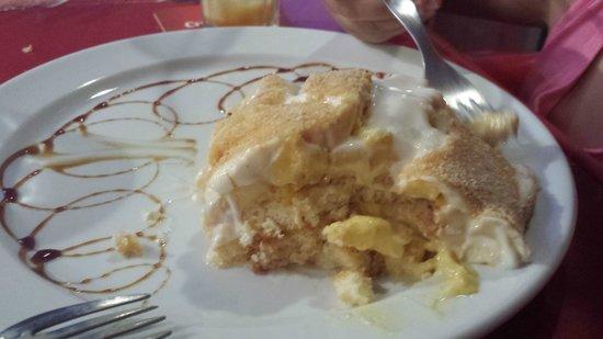 Bar El Camino : Doskonały deser coś w roodzaju szarlotki tylko z owocami z Tenerify
