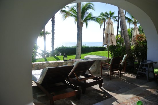 One & Only Palmilla: our patio