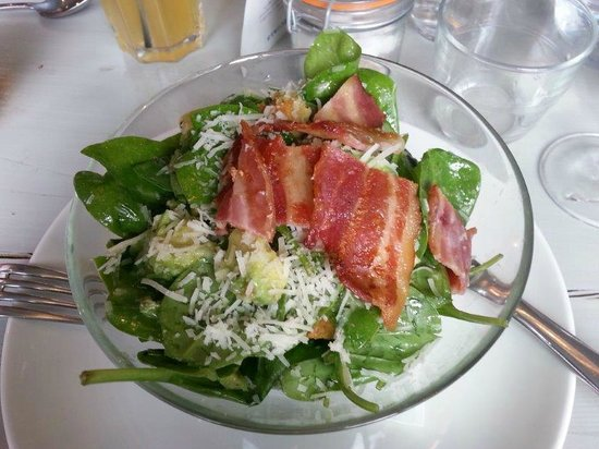 Bacon, avocado and spinach salad - Picture of Bill's, Worcester ...