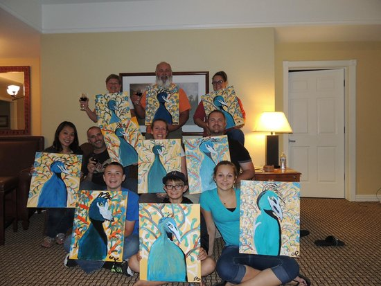 The Paint Mixer: Some of the Bauer clan with their interpretations of a peacock