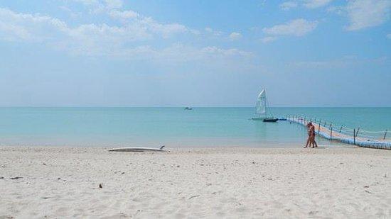 The Sarojin: the pristine white sand beach :)
